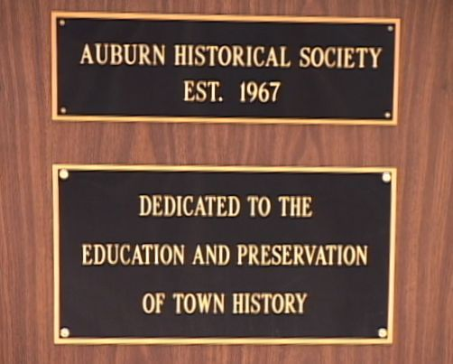 Auburn Historical Society, Est. 1967, Dedicated to the Education and Preservation of Town History